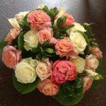 composizione bianca e rosa