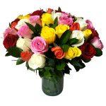 50 rose miste gambo medio